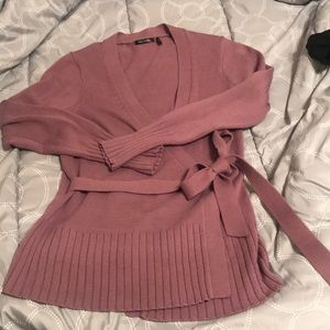 Sexy and soft lilac wrap sweater